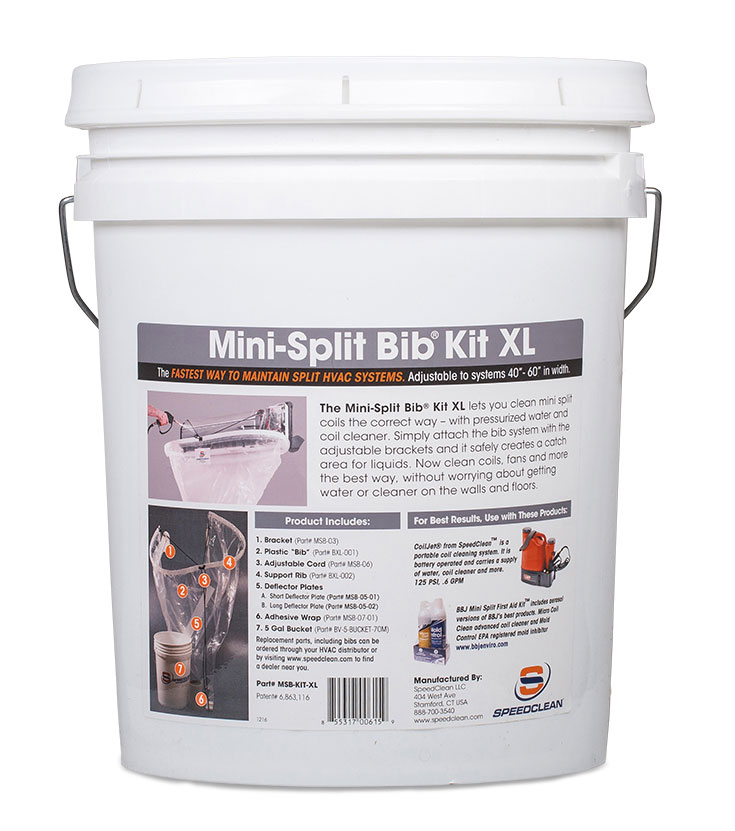 Split Spray Floor Mop: Mini-Split Bib Kit XL From SpeedClean Ltd